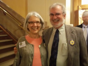 Rev. Thea Nietfeld and Bill Lucero